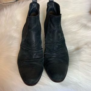 Paul Green Black Suede/leather Booties size 7